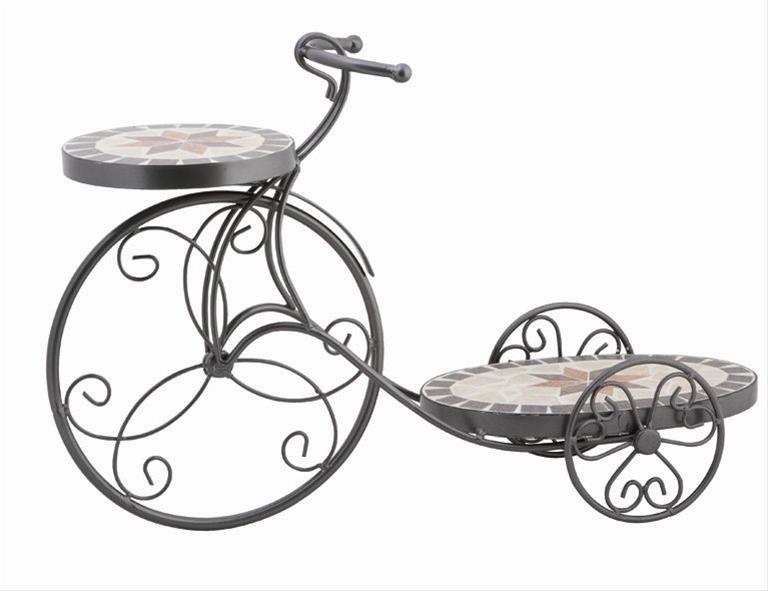 Blumenständer Siena Garden Fahrrad Stella Mosaik/schwarz Bild 1