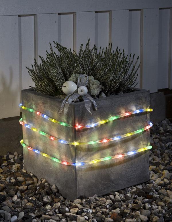 Konstsmide LED Lichterschlauch mit Sensor u. Timer außen 6m bunt Bild 2