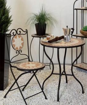 Siena Garden Blumenständer / Blumenhocker Eisen Finca Mosaik schwarz Bild 2