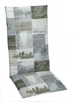 Auflage / Polster für Hochlehner 118 x 50 x 5 cm Bild 1