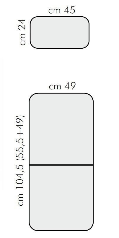 Auflage / Polster für Nardi Gartensessel Acquamarina grigio Bild 3