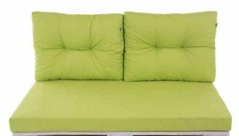 auflage f r palettenm bel bank 3 tlg gr n bei. Black Bedroom Furniture Sets. Home Design Ideas