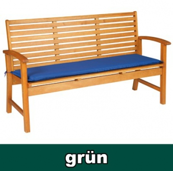Doppler Auflage für Gartenbank / Bankauflage 3-Sitzer grün Bild 1