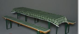 Doppler Auflagen für Bierzeltgarnitur / Festzeltgarnitur 50cm grün Bild 1