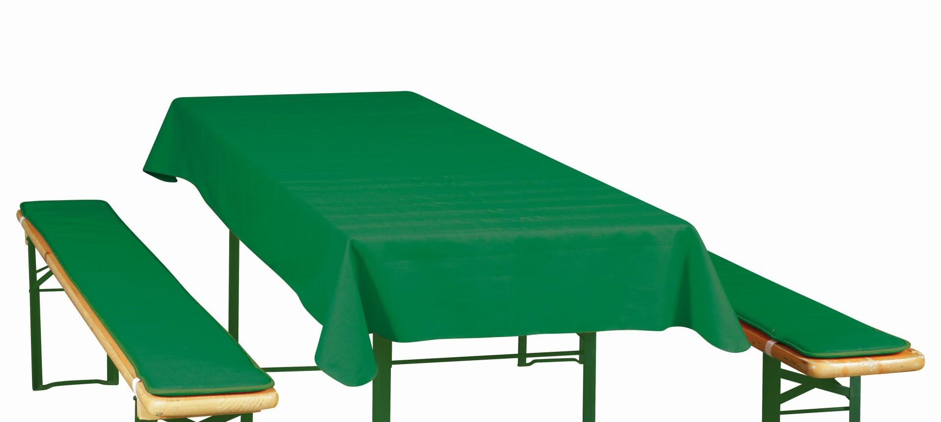 Doppler Auflagen für Bierzeltgarnitur / Festzeltgarnitur 50cm uni grün Bild 1