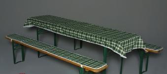 Doppler Auflagen für Bierzeltgarnitur / Festzeltgarnitur 70cm grün Bild 1