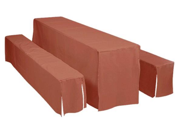 Doppler Hussen / Auflagen Set für Bierzeltgarnitur 70cm terra Bild 1