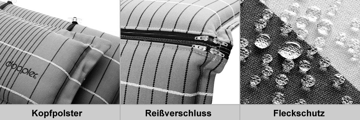 Doppler Polster / Auflage Gartenmöbel Gartensessel NL De Luxe D 3006K Bild 2