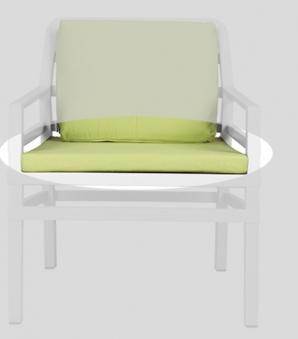 Nardi Sitzkissen / Stuhlkissen Cuscino Seduta Aria 62,5x58cm lime Bild 1