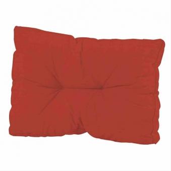 Palettenkissen / Rückenkissen 43x60cm Madison Basic rot Bild 1
