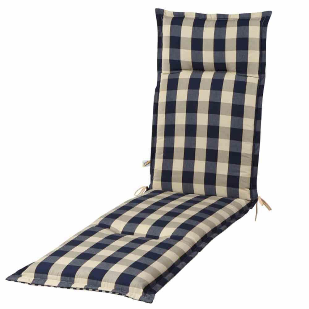 Polster / Auflage für Deckchair Des. Kent blau Bild 1