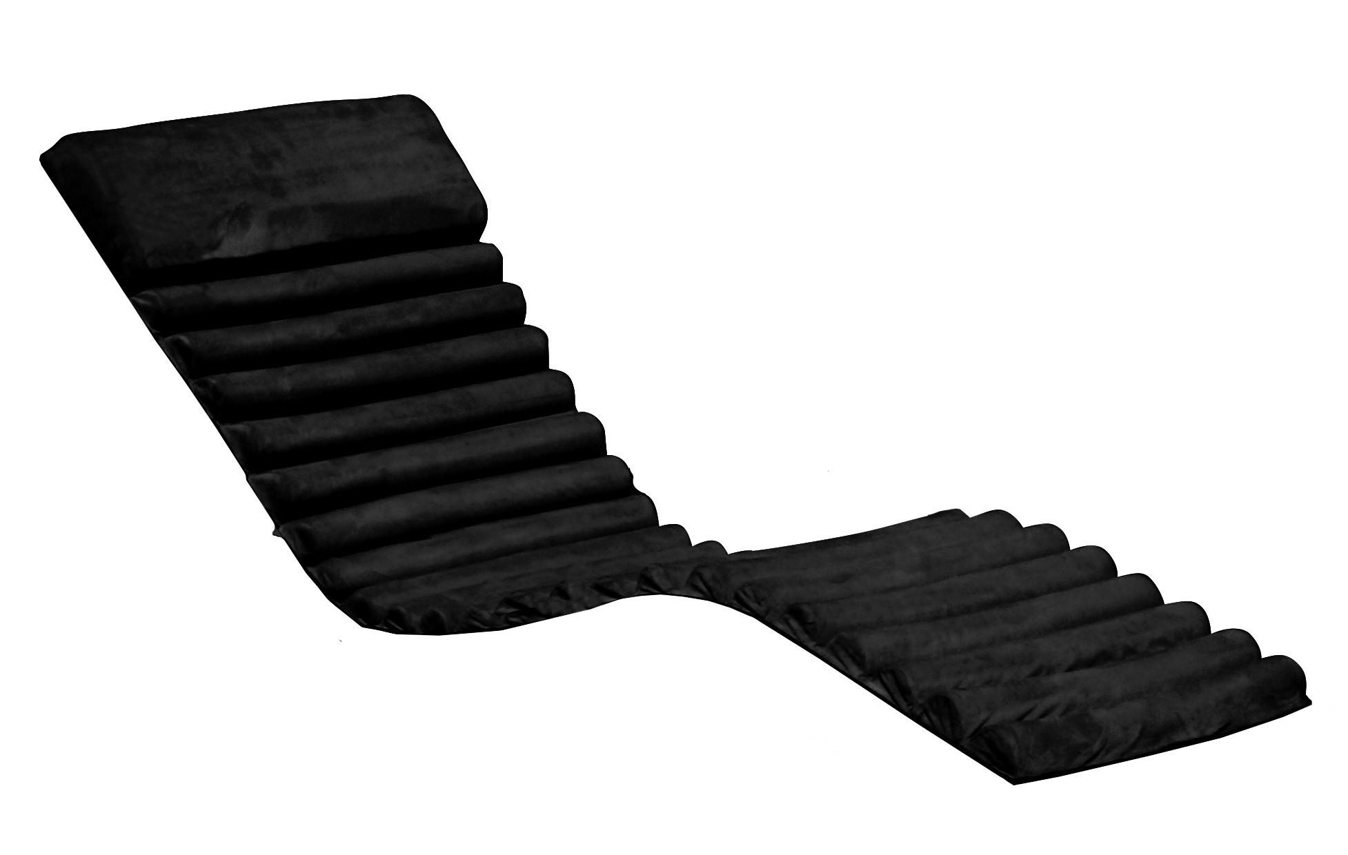 polster auflage f r sonnenliege schwarz bei. Black Bedroom Furniture Sets. Home Design Ideas