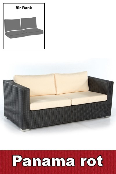 sonnenpartner auflage polster f r loungebank 4 tlg panama rot bei. Black Bedroom Furniture Sets. Home Design Ideas