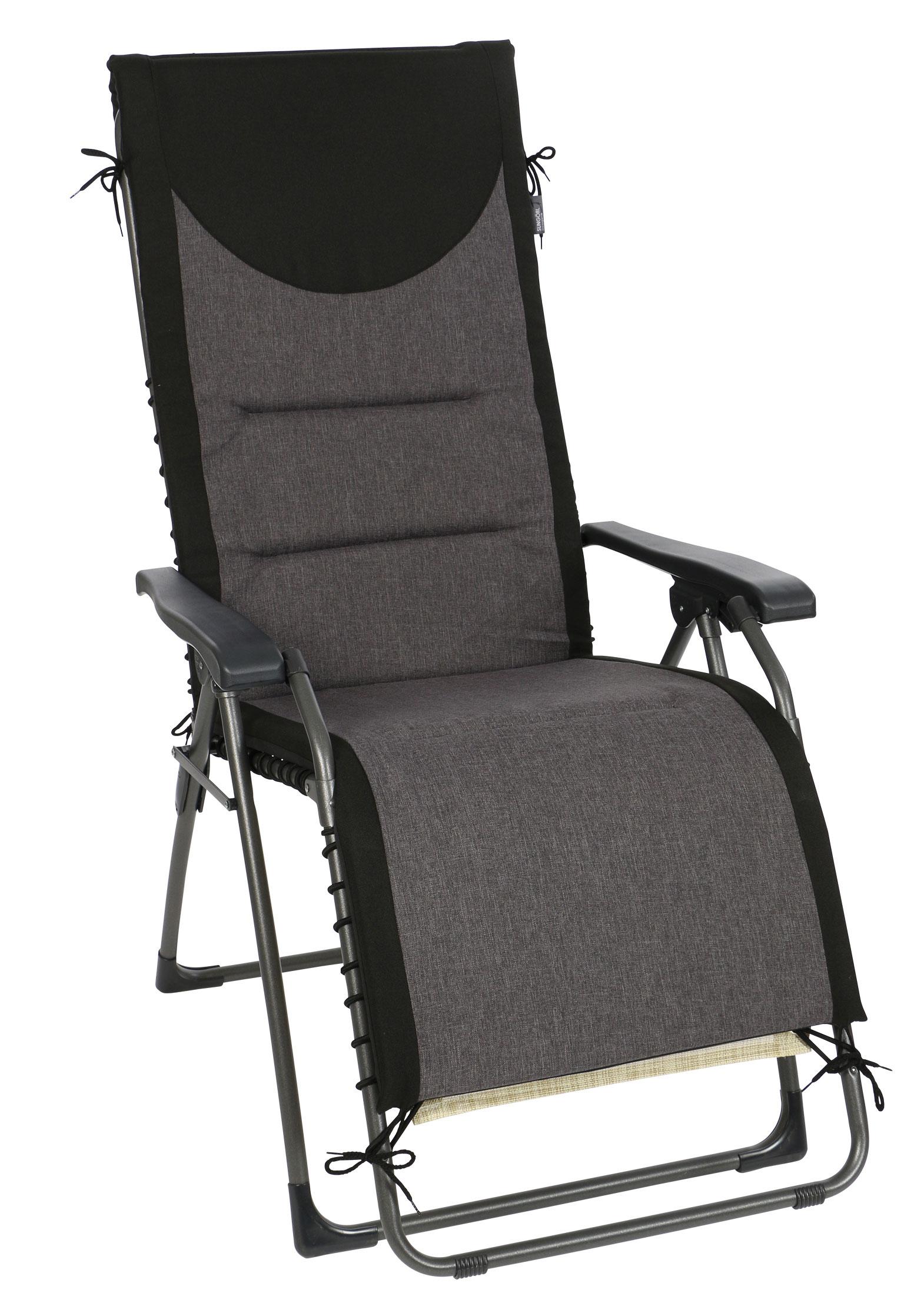 sung rl polster auflage f r relaxliege oasi schwarz anthrazit bei. Black Bedroom Furniture Sets. Home Design Ideas