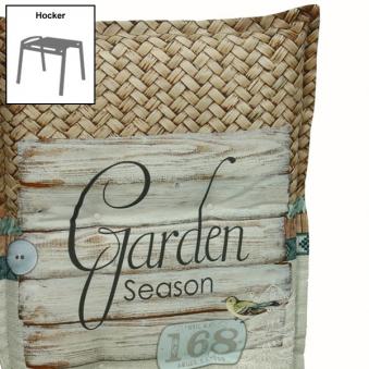 Polster / Auflage GO-DE für Gartenmöbel Gartenhocker Dessin 2973 Bild 1