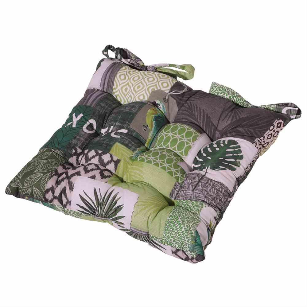 Polster / Auflage Madison für Gartensessel Toscana Des. Tropic grün Bild 1