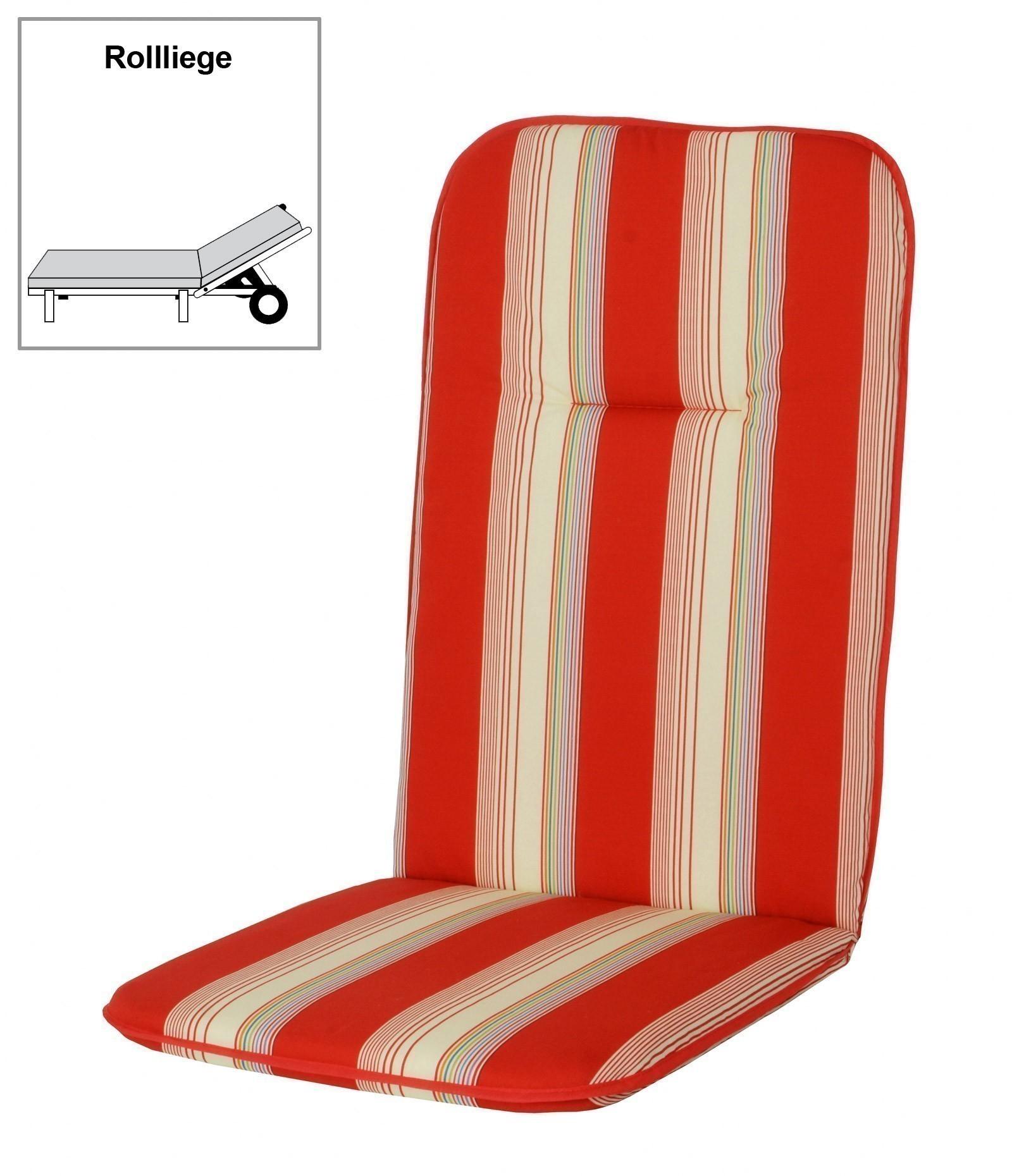 polster auflage f r gartenm bel gartenliege des basic 5100 bei. Black Bedroom Furniture Sets. Home Design Ideas