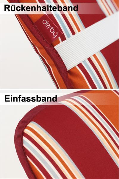 Doppler Polster / Auflage Gartensessel Hochlehner Des. Basic 5101 Bild 2