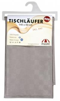 Doppler Tischläufer / Tischdecke 140x50cm Des. Look 840 anthrazit Bild 1