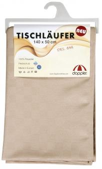 Doppler Tischläufer / Tischdecke 140x50cm Des. Look 846 greige Bild 1