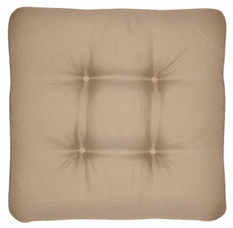 Sitzkissen / Stuhlkissen quadratisch 45 x 45 cm Look D 846 greige Bild 1