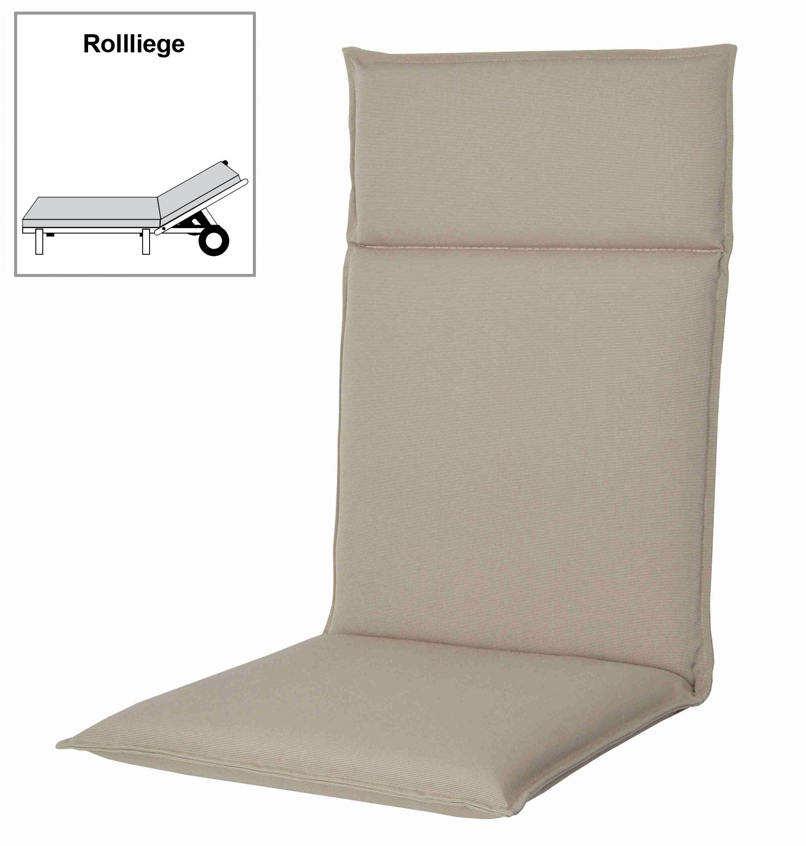 polster auflage f r gartenm bel gartenliege spirit d. Black Bedroom Furniture Sets. Home Design Ideas