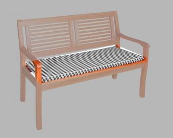 Doppler Auflage Gartenbank 3-Sitzer 150x48cm Vivo Des. 6953 anthr.kar. Bild 1