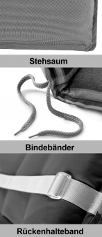Doppler Polster / Auflage Gartensessel Hochlehner Des. Living 5113 Bild 2