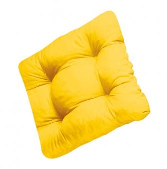 Doppler Sitzkissen / Stuhlkissen Soft 40x40cm Des. 903 gelb 4 Stück Bild 1
