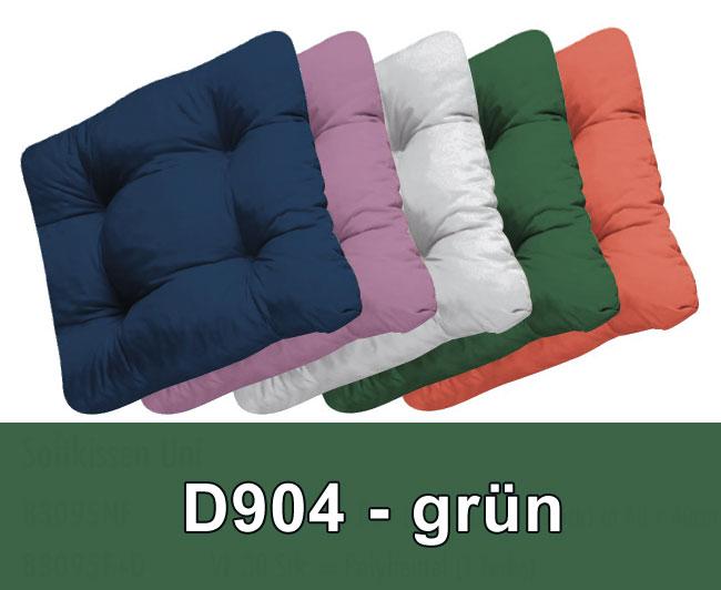 Doppler Sitzkissen / Stuhlkissen Soft 40x40cm Des. 904 grün 4 Stück Bild 1