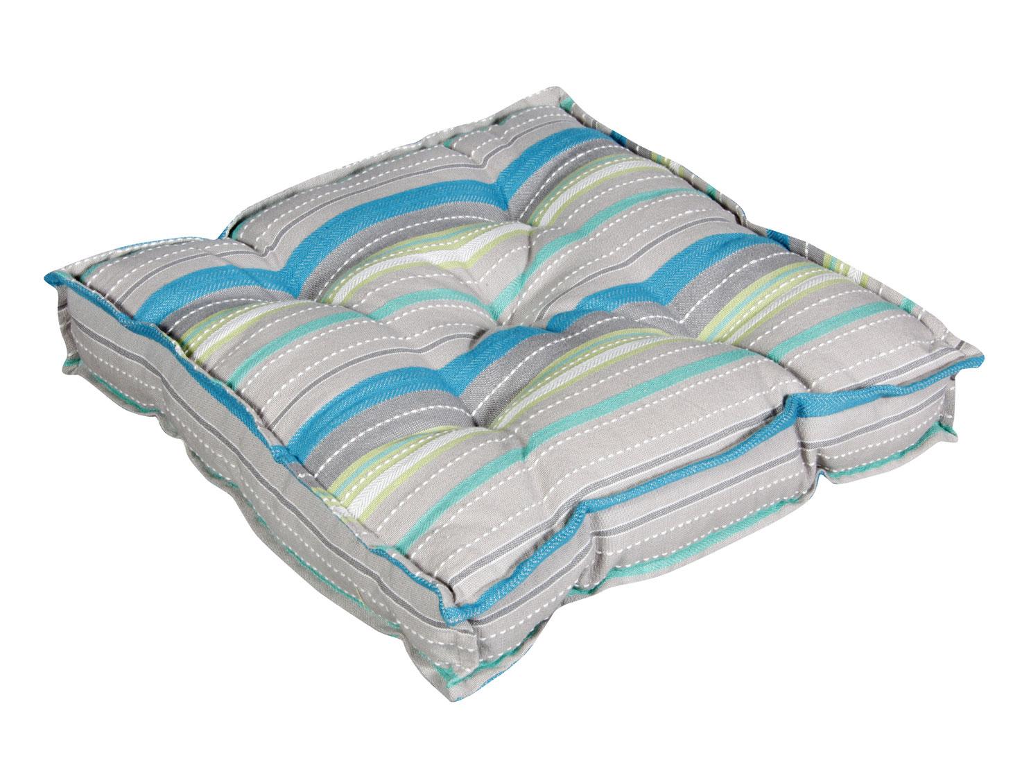 doppler sitzkissen stuhlkissen stehsaum 40x40x8cm grau gr n bei. Black Bedroom Furniture Sets. Home Design Ideas