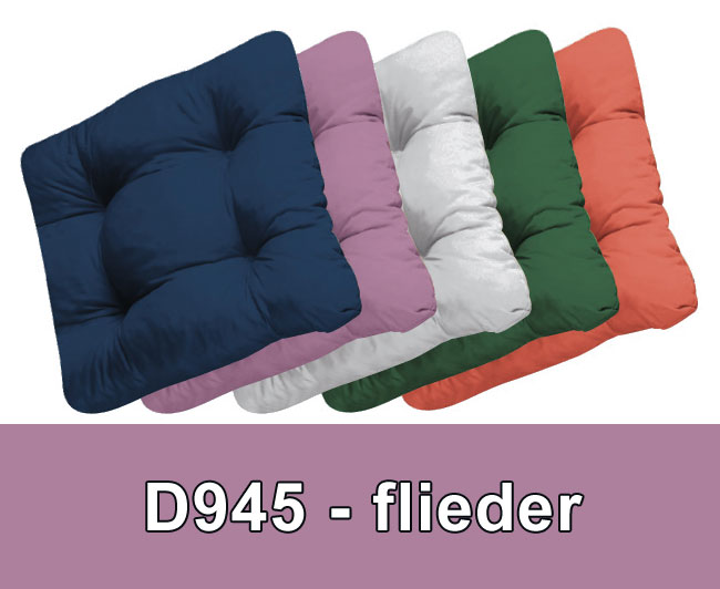 Sitzkissen / Stuhlkissen Soft 40 X 40 Cm Des. 945 Flieder