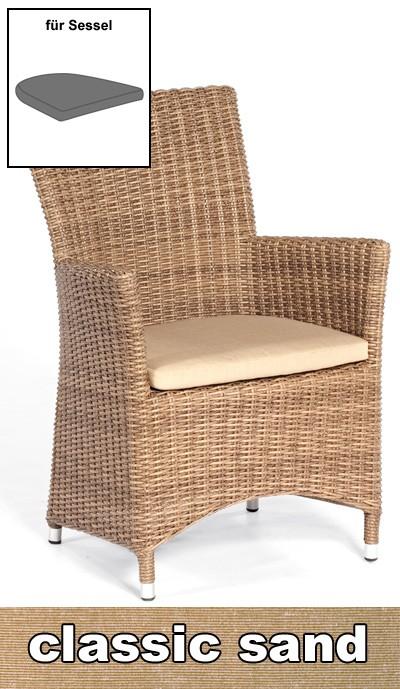 sonnenpartner sitzkissen f r korbm bel ikarus classic sand. Black Bedroom Furniture Sets. Home Design Ideas