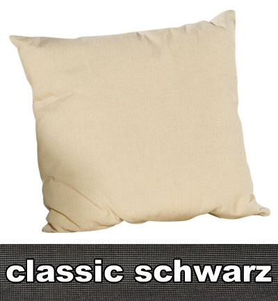 Sonnenpartner Kissen / Sofakissen 50x50cm Classic schwarz Bild 1