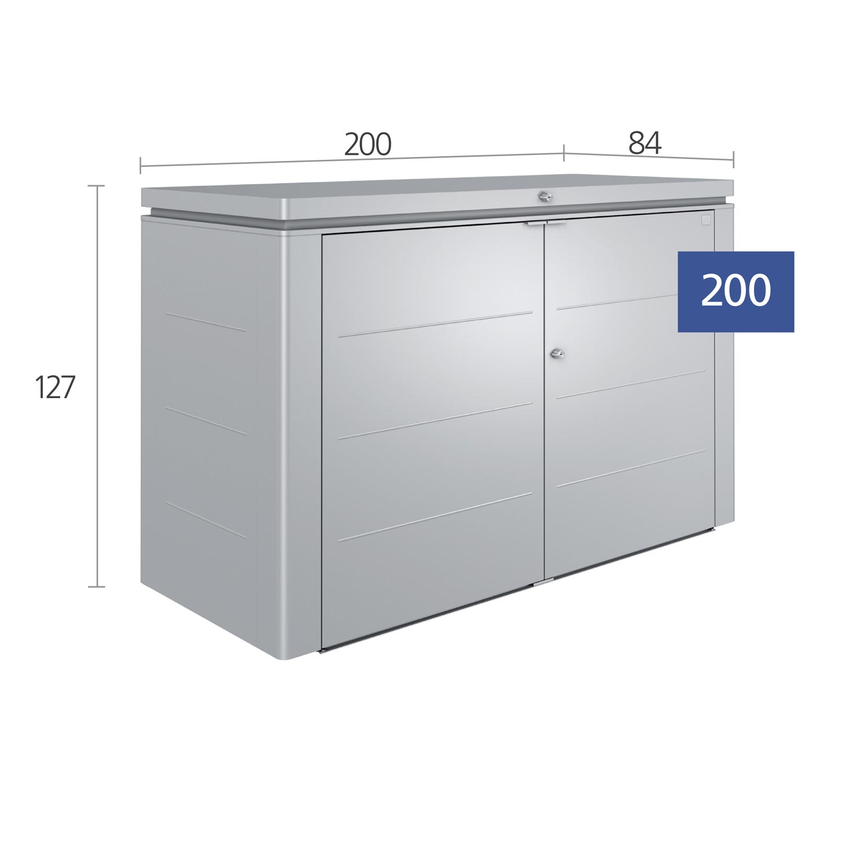 Biohort Geräteschrank HighBoard 200 quarzgrau-metallic 200x84x127cm Bild 2