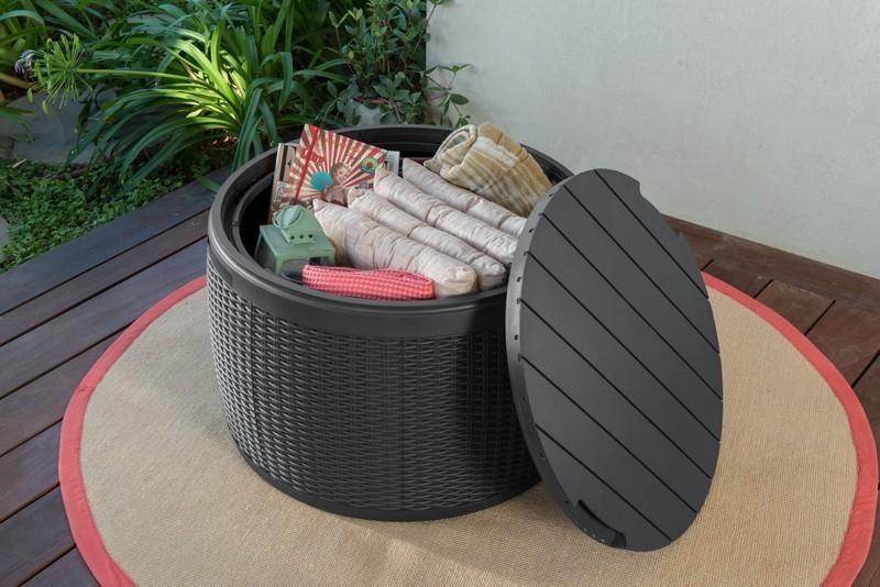 gartenbox aufbewahrungsbox circa box keter anthrazit. Black Bedroom Furniture Sets. Home Design Ideas