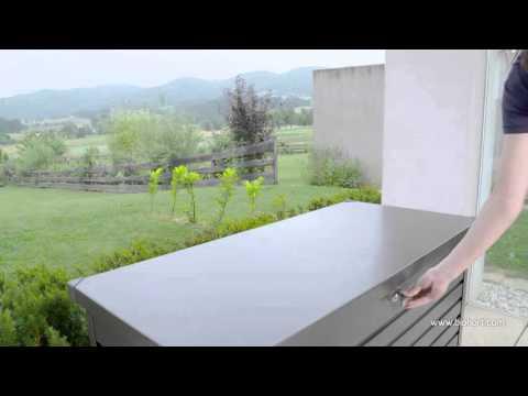 Gartenbox Auflagenbox Biohort Freizeitbox 160 quarzgrau-metallic Video Screenshot 1199