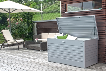 Gartenbox Auflagenbox Biohort Freizeitbox 160 silber-metallic Bild 2