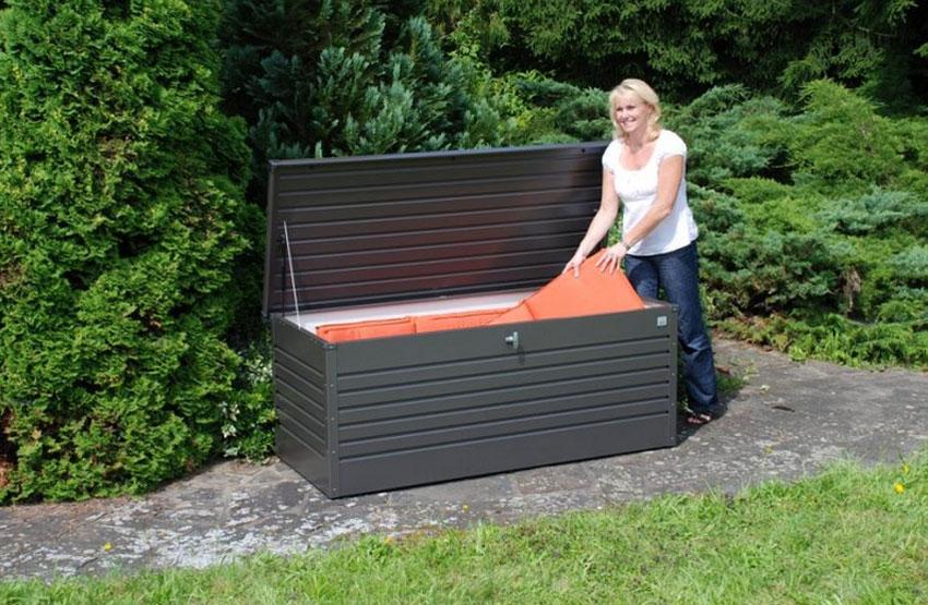 Gartenbox / Auflagenbox Biohort Freizeitbox 180 bronze-metallic Bild 2