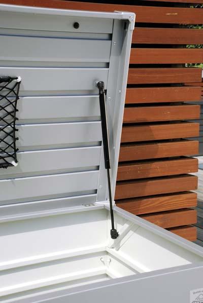 Gartenbox Auflagenbox Biohort Freizeitbox 180 silber-metallic Bild 2