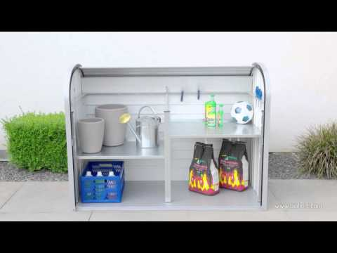 Gartenbox / Auflagenbox Biohort Storemax 120 silber-metallic Video Screenshot 1258