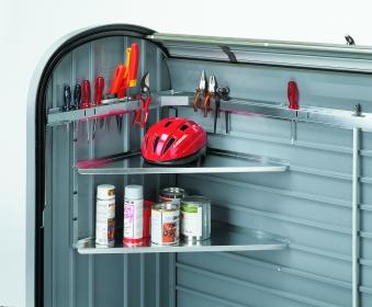 Eckregale Set Biohort für Gartenbox / Auflagenbox Storemax 120 und 160