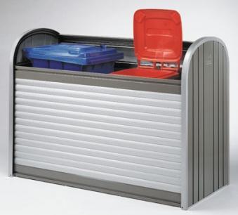 Gartenbox / Auflagenbox Biohort Storemax 160 silber-metallic Bild 2