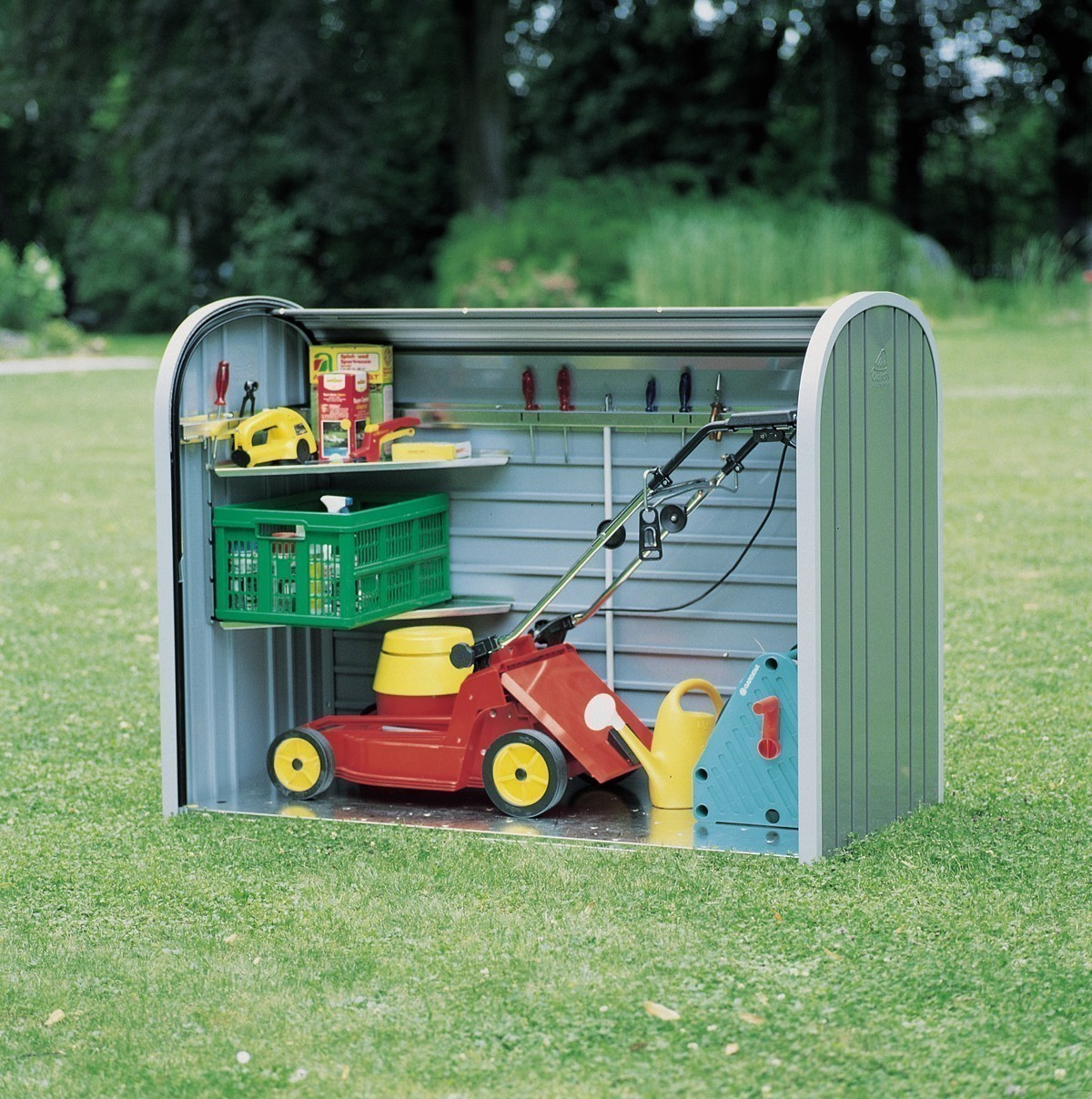 Gartenbox / Auflagenbox Biohort Storemax 190 quarzgrau Bild 3