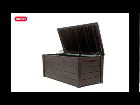 Gartenbox / Kissenbox Brightwood Keter Kunststoff 145x69,7x60,3cm Video Screenshot 1585