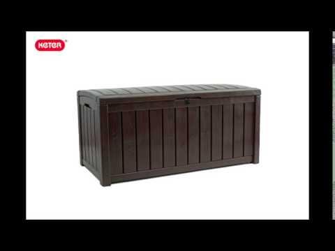 Gartenbox / Kissenbox Glenwood Kunststoff Keter 128x65x61 anthrazit Video Screenshot 1584