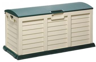 Gartenbox / Kissenbox Jumbo XXL 140x60x70cm grün-beige Bild 1