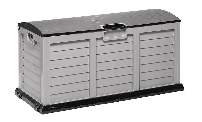 gartenbox kissenbox jumbo xxl kunststoff grau anthrazit 140x60x70cm bei. Black Bedroom Furniture Sets. Home Design Ideas