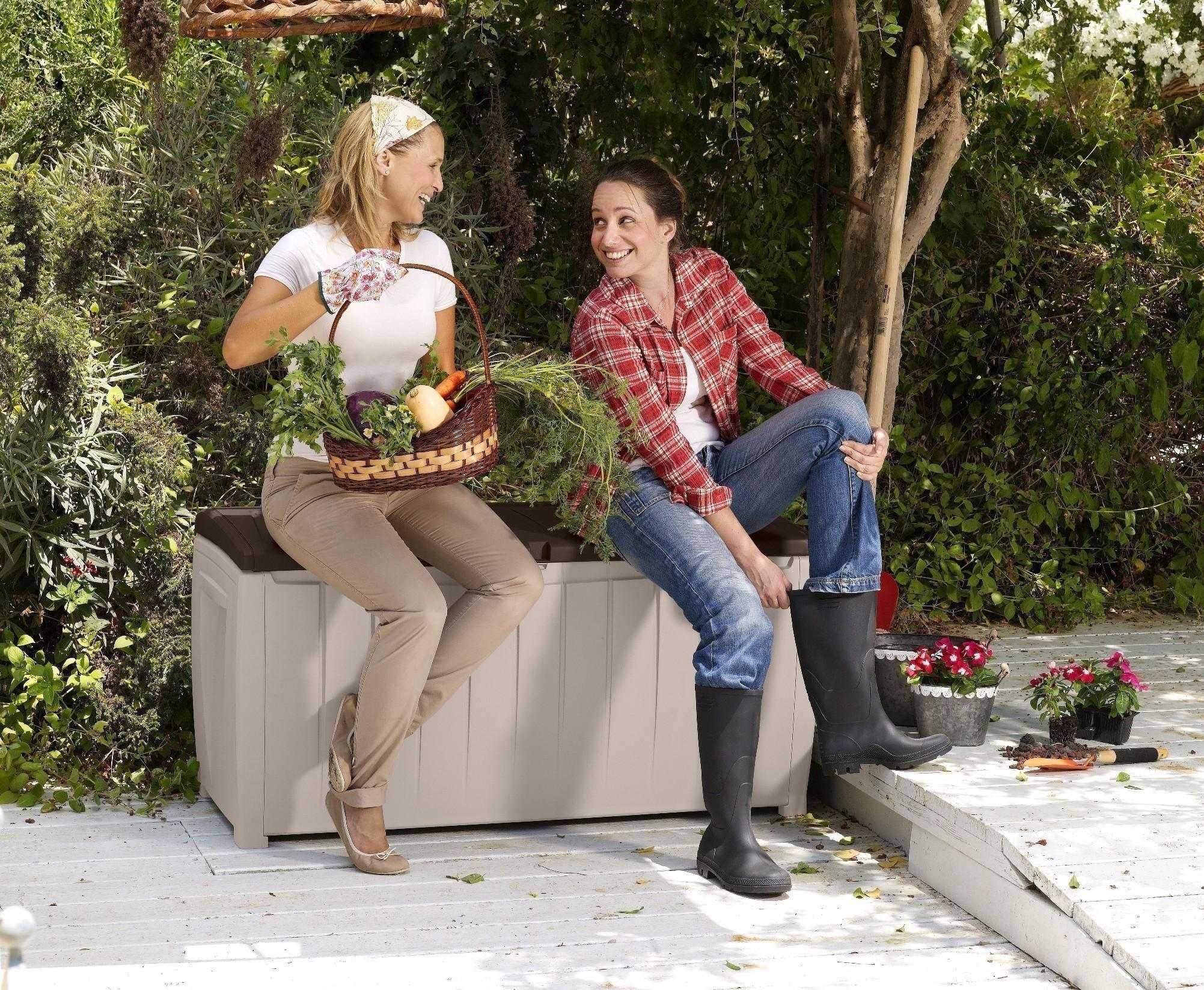 Gartenmobel Set Poco Domane :   Sitzbank Novel Tepro Kunststoff 125x55x63cm  bei edingershopsde