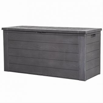 Gartenbox / Kissenbox Woddy Kunststoff 120x46x58cm Holzoptik Bild 1